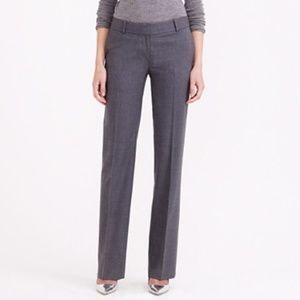 J.Crew Favorite Fit Stretch Wool Trousers, in Gray